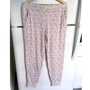 Calida soft pajama bottoms with lace detail, S / M